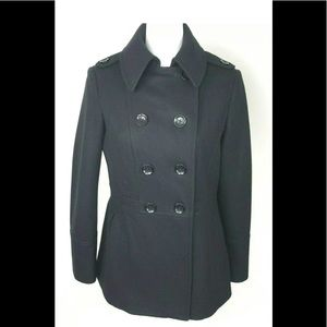 Michael Kors Pea Coat Wool Blend Double Breasted